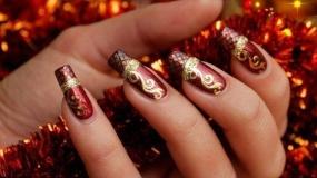 مدل لاک و طراحی ناخن ویژه کریسمس
