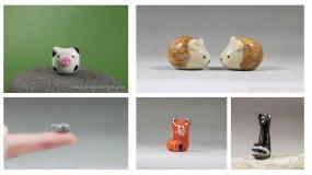 ساخت حیوانات سرامیکی در ابعاد مینیاتوری