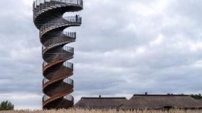 برج مراقبت مارپیچی جدید در دانمارک