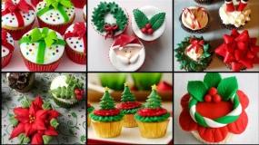 ایده های جالب برای تزئین کاپ کیک ویژه کریسمس
