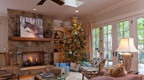 تزئین اتاق نشیمن در ایام کریسمس