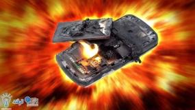 انفجار باتری موبایل