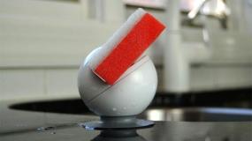 خلاقیت در طراحی محل نگهداری اسفنج ظرفشویی