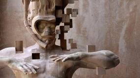 هنرمند تایوانی و ساخت مجسمه های چوبی پیکسلی