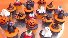 پخت کاپ کیک با تم هالووین