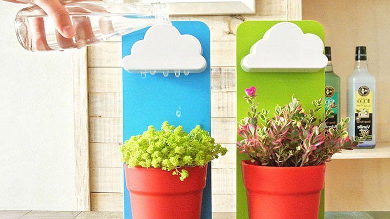 خلاقیت طراح کرهای و ساخت گلدان ابری