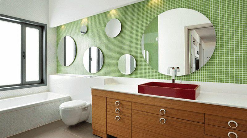 ایدهها و طرحهای جالب برای آینهی حمام
