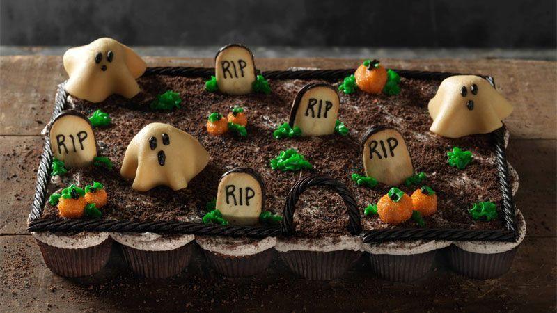 پخت کیک فنجانی مناسب برای جشن هالووین