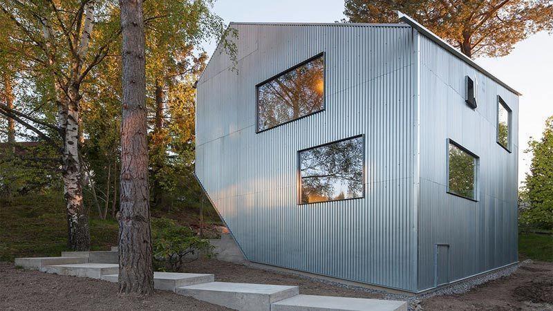 ساخت نسخهای از خانه پیش ساخته و ارزان قیمت در سوئد