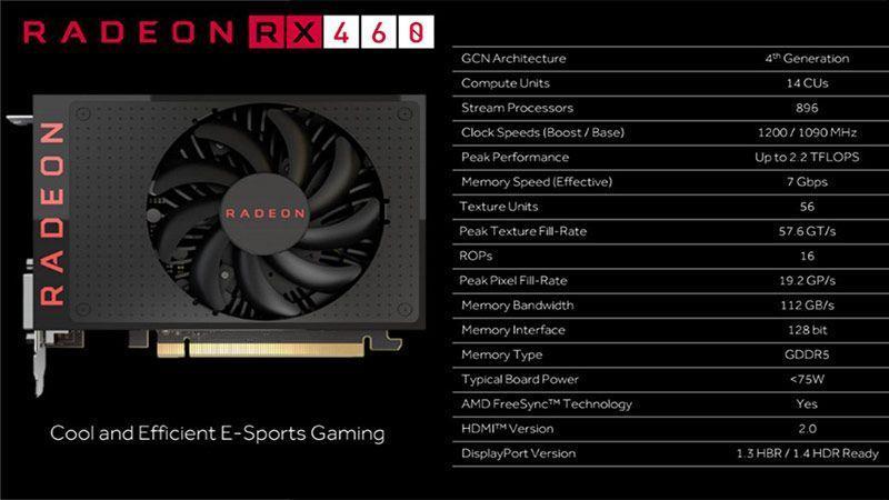 مشخصات RX 460