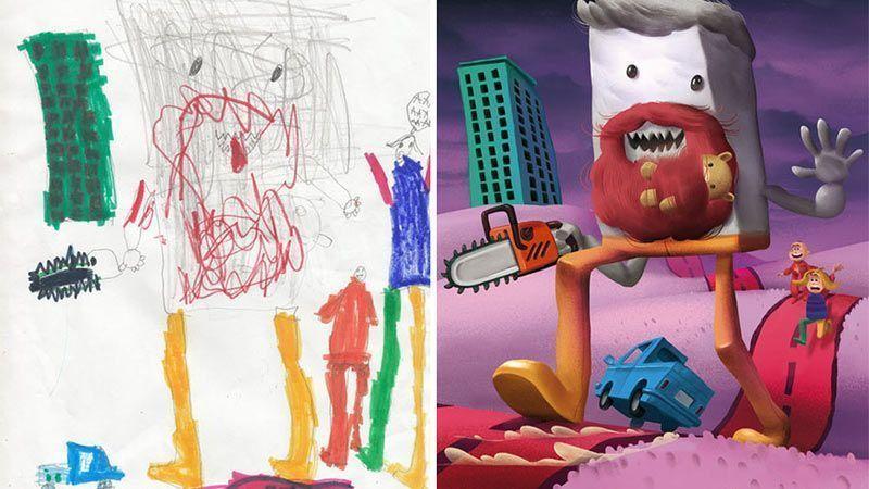 نقاشی کودکان الهام بخش هنرمندان حرفهای