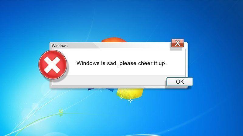 خندهدارترین پیامهای ویندوز