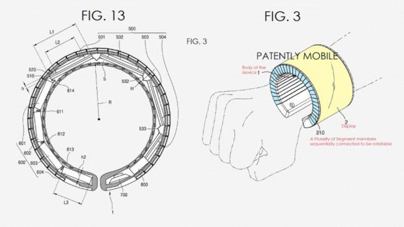 پتنت سامسونگ پیرامون دستبند با نمایشگر خمشدنی