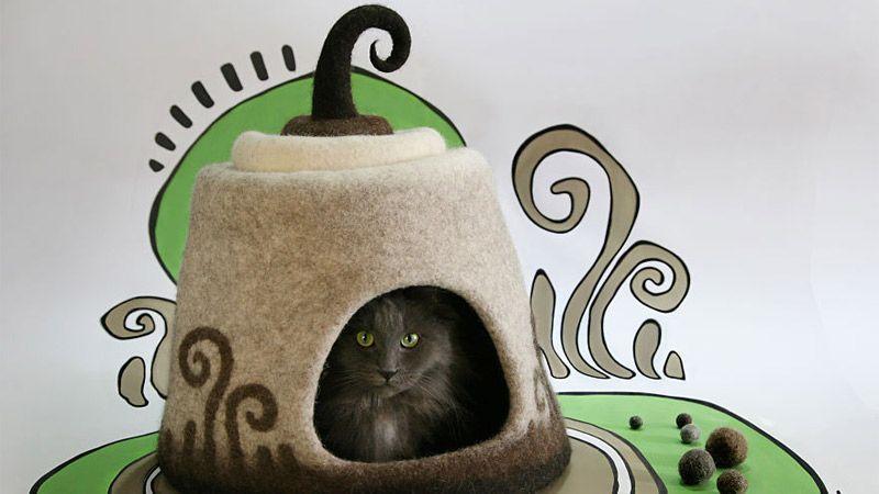 هنرمند اوکراینی وساخت خانههایی فانتزی برای حیوانات خانگی