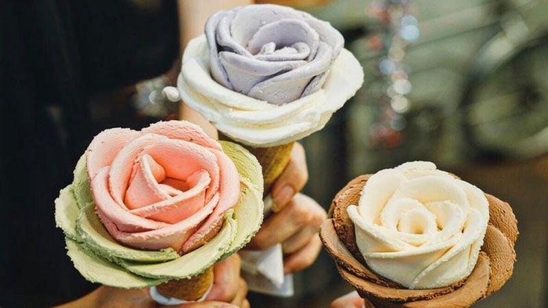 تزئین متفاوت بستنی