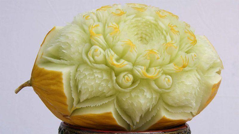 خلق آثار هنری جالب توجه از میوه و سبزیجات