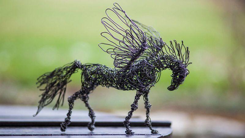 حیواناتی ساخته شده از سیم توسط هنرمند بلغار