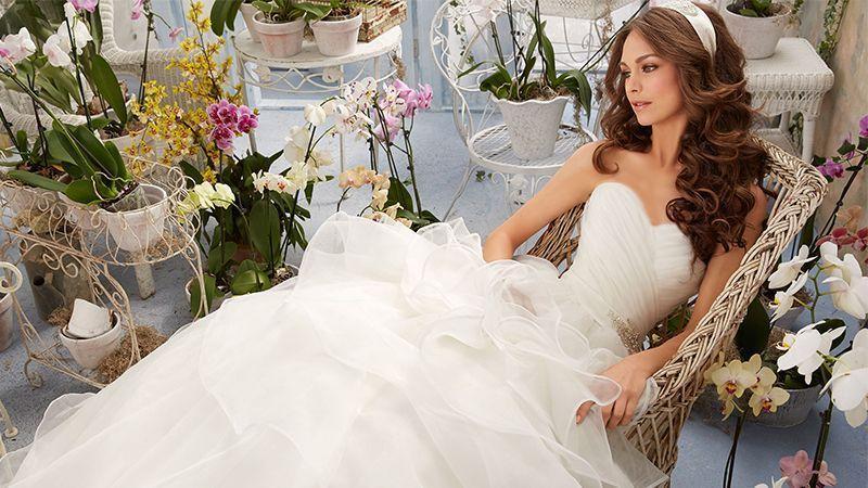 مدل لباس عروس مخصوص بانوان لاغر اندام و قد بلند