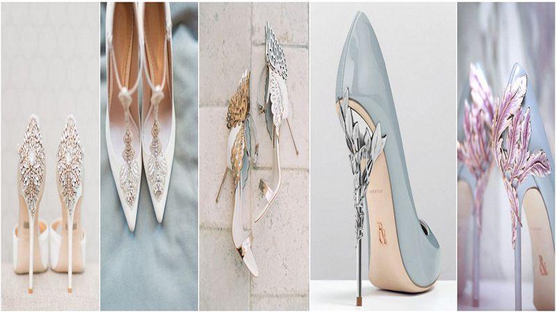 مدل کفش پاشنه بلند و کوتاه عروس سال 96