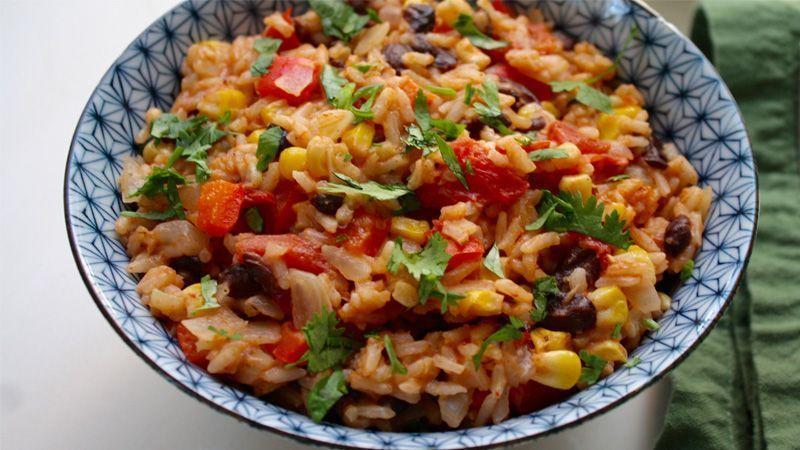 طرز تهیهی برنج مکزیکی