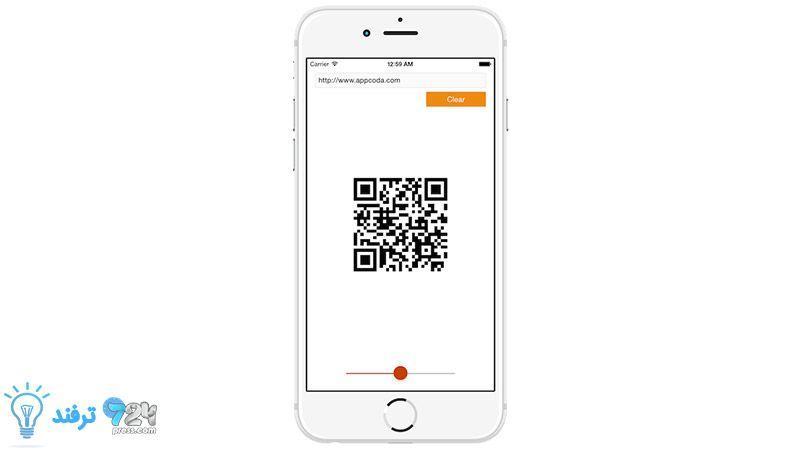 ایجاد QR Code در آیفون