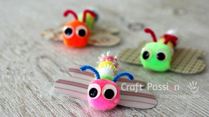 کاردستی به شکل پروانه مخصوص کودکان