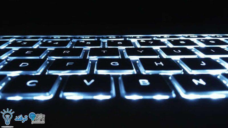 نور پسزمینه صفحه کلید