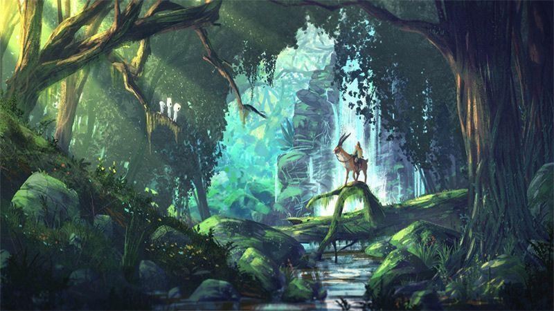 عکاسی از طبیعت الهام بخش انیمیشن پرنسس مونونوکه