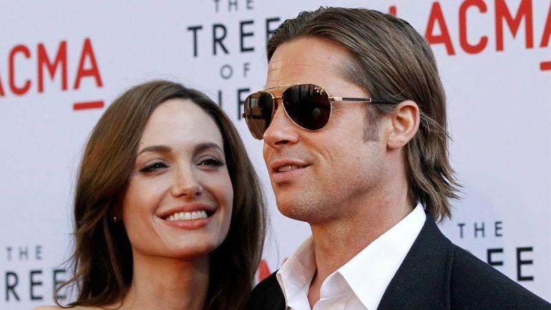 برد پیت در کنار همسر سابقش جنیفر آنیستون