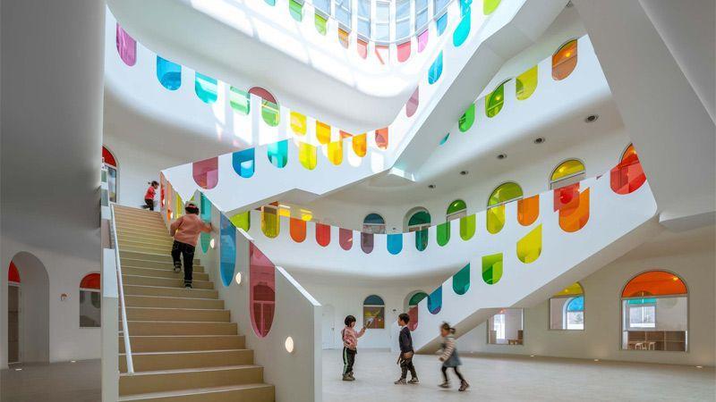 طراحی مهدکودکی رنگارنگ در چین