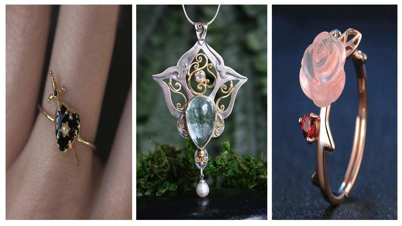 ایده هایی جذاب در طراحی جواهرات فانتزی