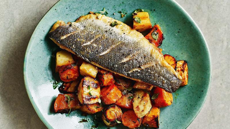 طرز تهیه دو مدل غذا با کدو تنبل-سالاد و ماهی کبابی یا برشته شده