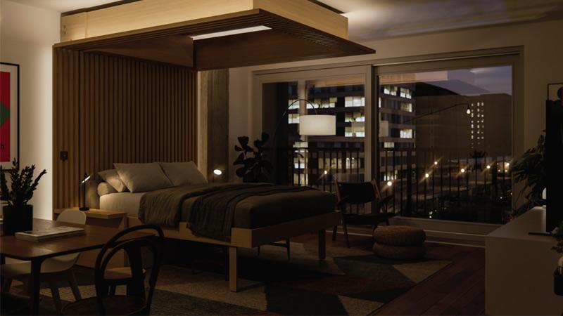 طراحی تختخواب مناسب خانه های کوچک