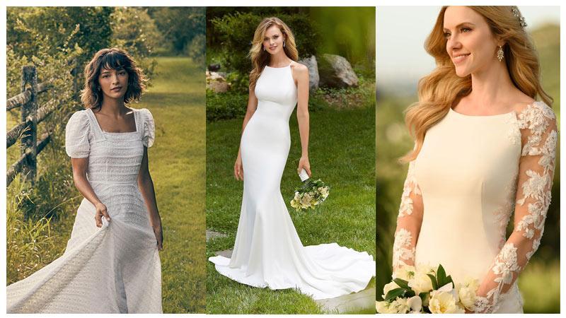 مدل لباس عروس با طراحی مینیمال، ویژه تابستان 2021