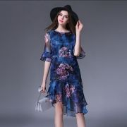 Plus-size-2017-nova-moda-mulheres-elegantes-chiffon-aline-imprimir-metade-da-borboleta-luva-bodycon-dressjpg640x640