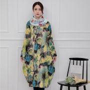 Autumn-Winter-Fashion-font-b-Floral-b-font-Print-font-b-Designer-b-font-Womens-Dresses