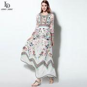 LD-LINDA-DELLA-Classic-Autumn-Winter-Runway-font-b-Designer-b-font-Dress-Women-s-Long