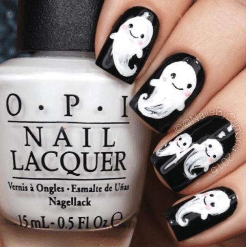 ghost-nail-art