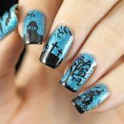 graveyard-glitter-blue-halloween-nail-stamping-2
