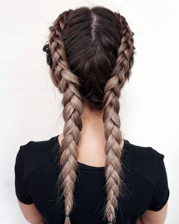 2018-Double-Braids-Long-Hair-French-Braids