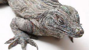 هنرمند ژاپنی و ساخت مجسمه های حیوانات با استفاده از کاغذ روزنامه