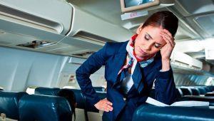 گلایه های مهمانداران هواپیما