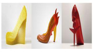 طراحی متفاوت و خلاقانه کفش پاشنه بلند و زنانه