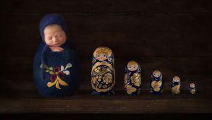 خلاقیت عکاس ایرلندی در عکاسی کردن از نوزاد