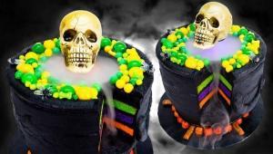 تزئین کیک با تم هالووین