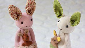 ساخت عروسک کانگوروی مادر و بچه با نمد و جوراب