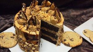 طرز تهیه کیک کوکی شکلاتی