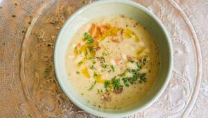 طرز تهیه سوپ سفید زمستانی